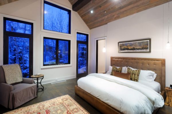 Using snow as a design inspiration for Winter bedroom