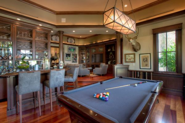 attic craft room ideas - A few decor ideas and suggestions for your billiards room