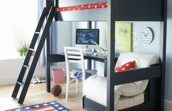 40 teenage boys room designs we love for Beds for 13 year olds