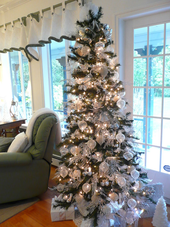 christmas - Silver Christmas Tree Decorating Ideas