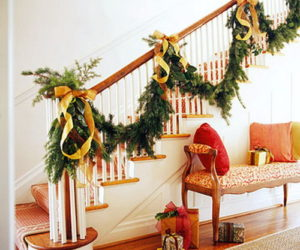 Give your staircase a festive makeover just in time for New Year's Eve
