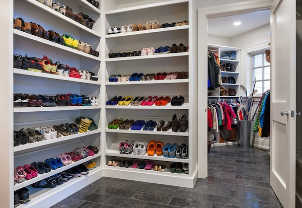 Creating more space in your cluttered children 39 s closets - Shoe storage ideas small space image ...