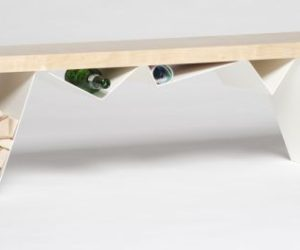 The multifunctional Mägi Bench, a sculptural piece with plenty of room for storage