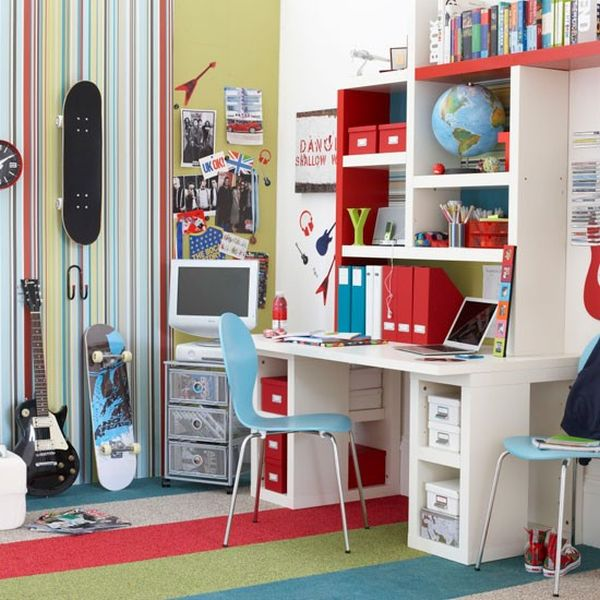 Teenager Boy Bedroom Designs Part - 15: ... Boyu0027s Bedroom With Painted Walls And Wooden Furniture View ...