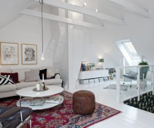 Duplex interior design with well known Scandinavian feel