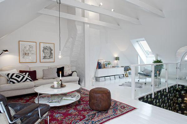 Duplex interior design with well known scandinavian feel for Simple duplex house interior designs