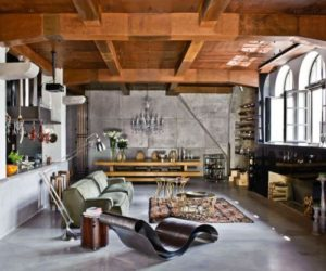 A 2,150-square foot loft with an eclectic interior in Budapest