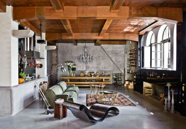 A 2 150 square foot loft with an eclectic interior in budapest for Meuble brick montreal