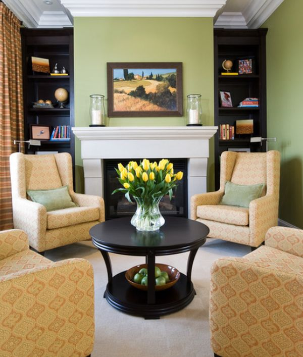 Fireplace Arrangament View In Gallery. Chairs Only U2013 In This Small Living  Room ...