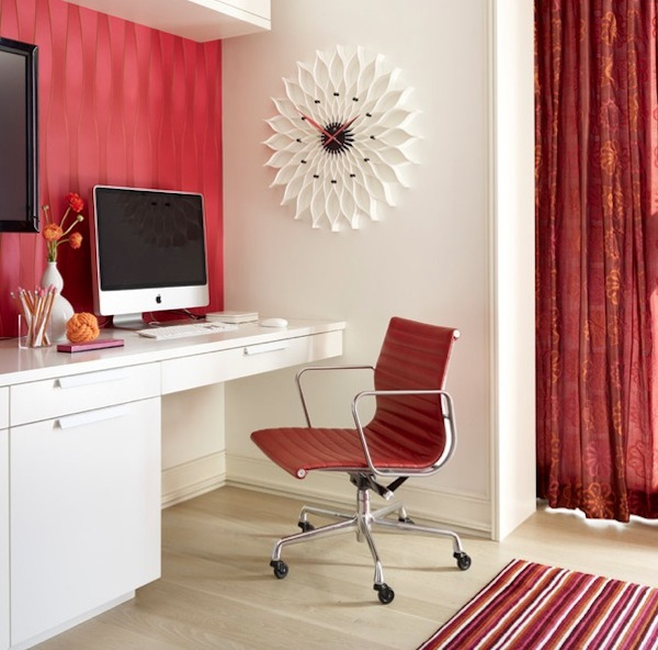 home office color red