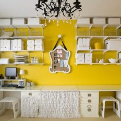 home office color yellow