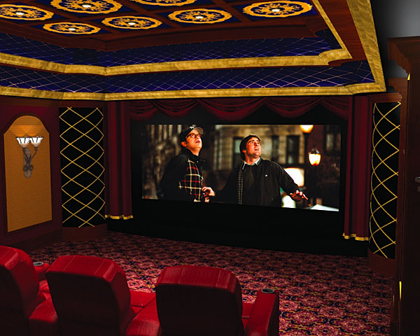 View In Gallery Traditional Home Theater With Elegant Leather Armchairs And  Subtle Ceiling Lighting View ... Part 89