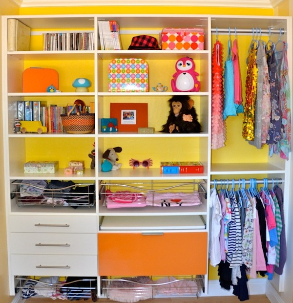 Creating more space in your cluttered children 39 s closets for Kids room closet ideas