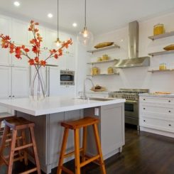 kitchen floating shelving