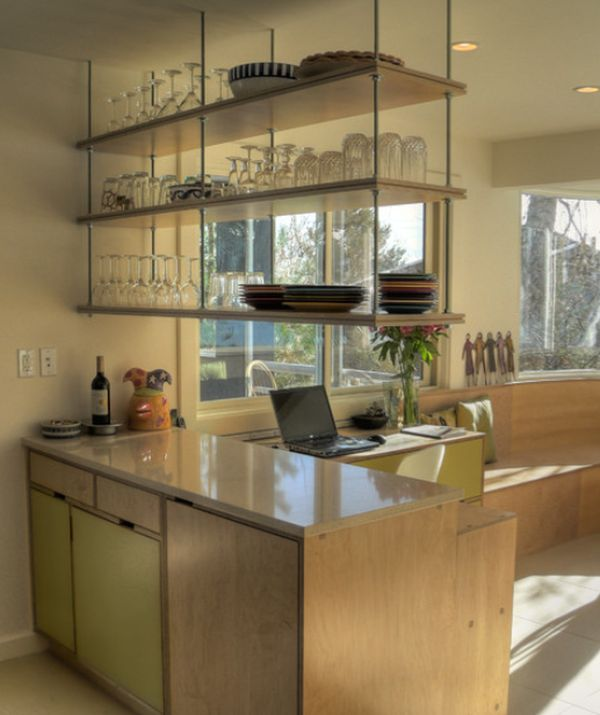 Uncommon but fantastic shelves for Hanging kitchen cabinets