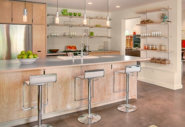 Beautiful and functional storage with kitchen open for Shelving in kitchen