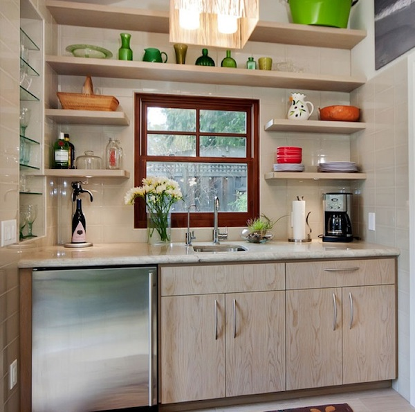 Beautiful and functional storage with kitchen open Floating shelf ideas for kitchen
