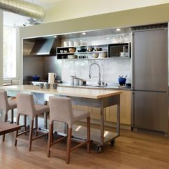 kitchen space island movable