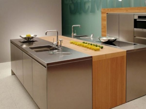 10 Beautiful Stainless Steel Kitchen Island Designs
