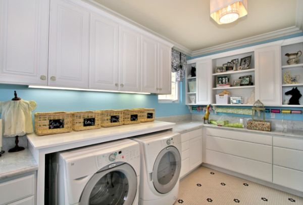 Laundry Room Wicker Basket
