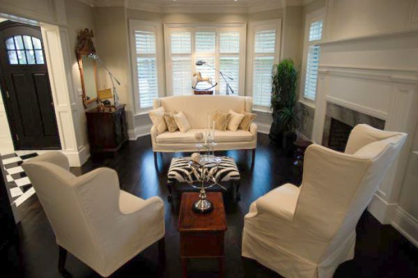 View In Gallery Loveseat Two Club Chairs