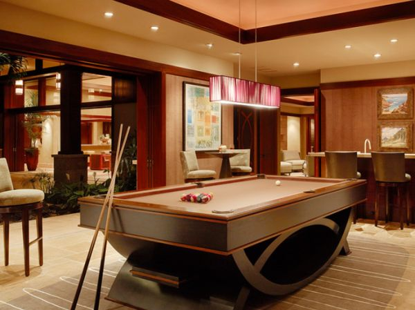 View In Gallery Stylish And Cozy Billiards Room