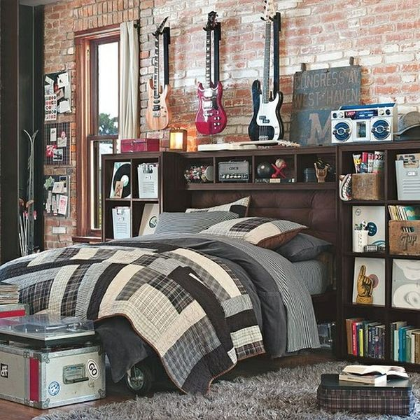 Boy Bedroom Storage: 40 Teenage Boys Room Designs We Love