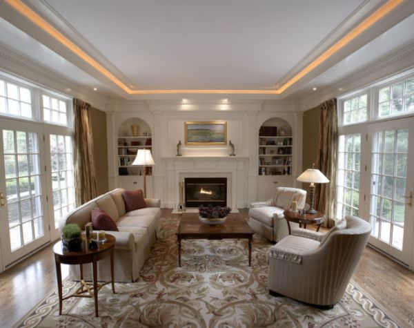 Different Styles For The Living Room Lighting