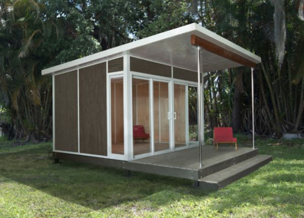 The best prefabricated outdoor home offices designs for Outside office shed