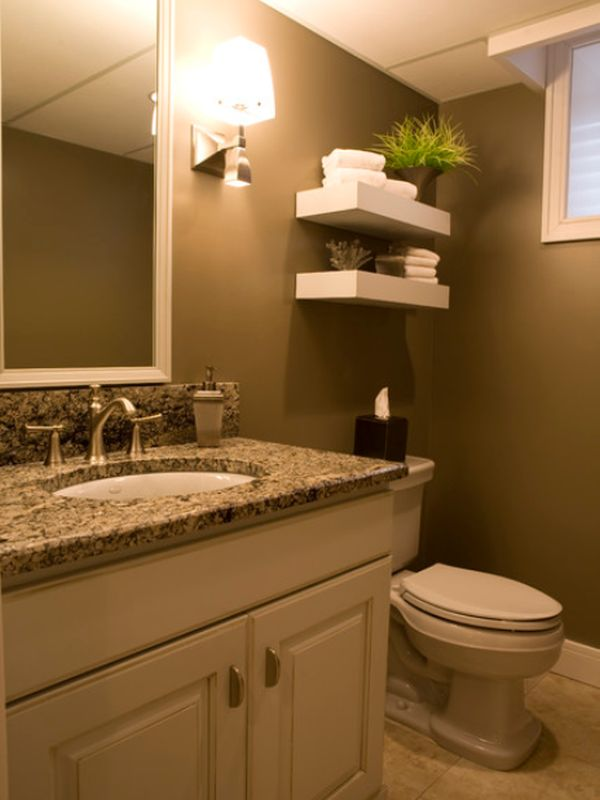 Decor ideas for your home 39 s smallest room Over the toilet design ideas