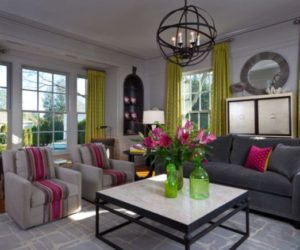 Beau Color Design Ideas With Black Furniture · Decorate A Modern Living Room  With Colorful Accessories