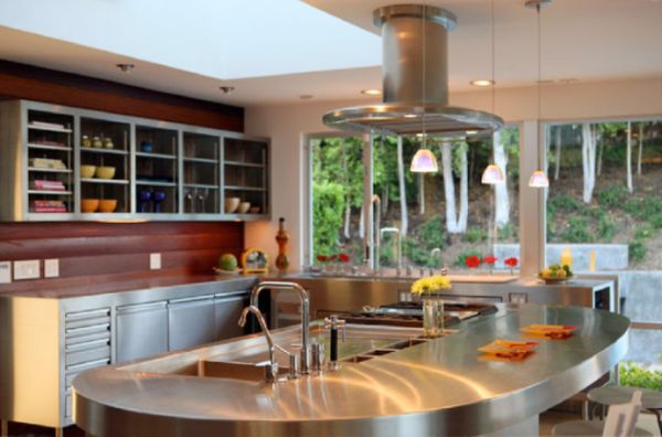 round kitchen island designs 10 beautiful stainless steel kitchen island designs 21562
