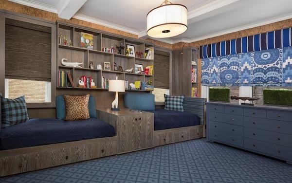 shared bedroom organization built ins