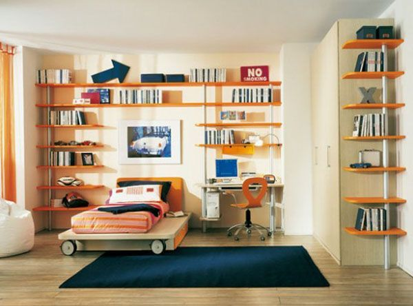 40 teenage boys room designs we love rh homedit com Boys' Bedroom Shelves childrens bedroom shelves uk