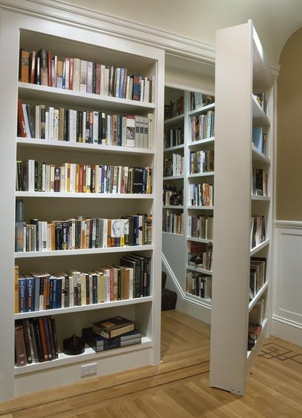 shelf with sliding bookcase bookshelf door of hinges book large size secret hidden passage