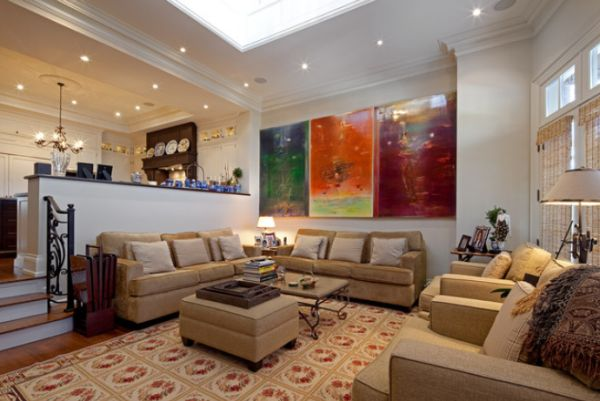 Perfect ... Abstract Painting With Bold Color Displays View In Gallery An Open Plan Living  Room ... Part 29