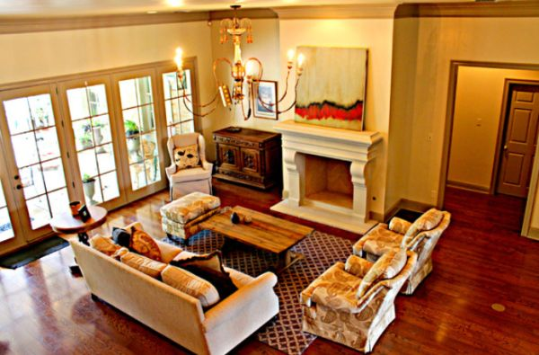 Effective living room furniture arrangements for Living room fireplace tv arrange