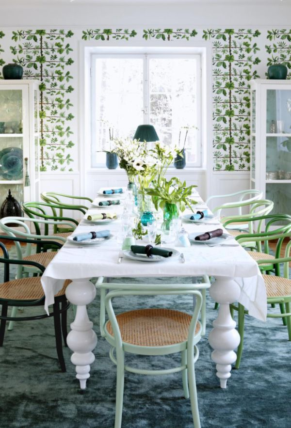 Emerald accents a new trend next year - Wonderful antique dining room ideas elegant supper time ...