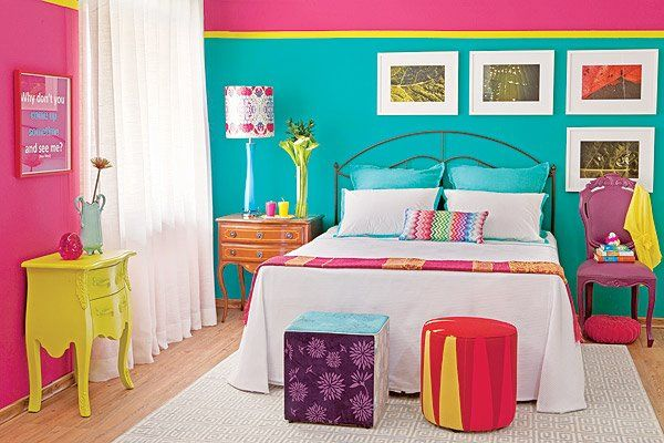 Interior Colorful Bedroom Decor color blocking in the bedroom ideas inspiration view gallery