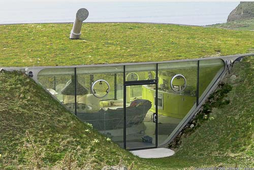 View in gallery  The house is almost entirely underground 10 Spectacular Underground Homes Around World