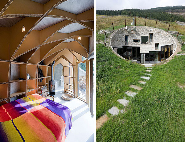 10 spectacular underground homes around the world for Underground house plans