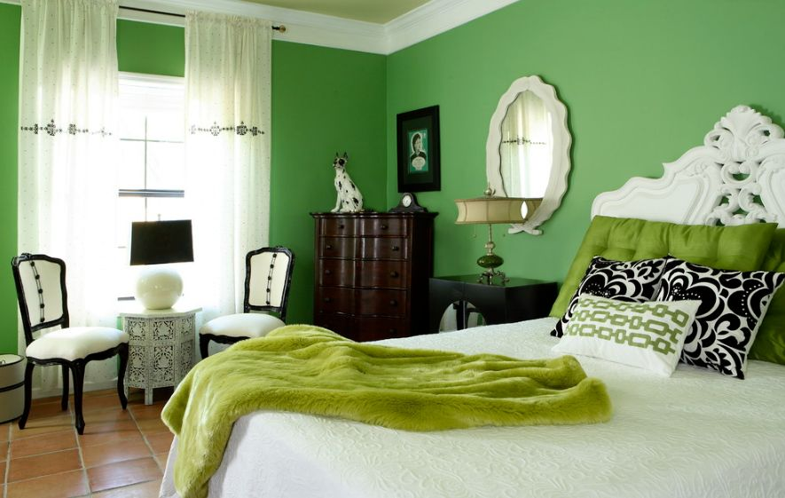 mint green bedroom decor decorating a mint green bedroom ideas amp inspiration 16204 | vibrant green bedroom