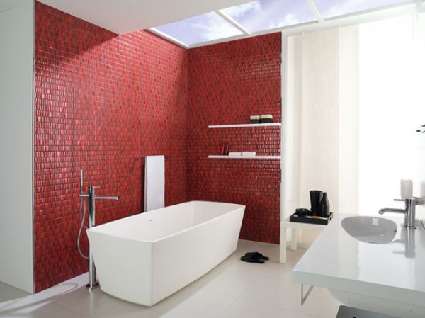 Bathroom Red when to incorporate red in a bathroom