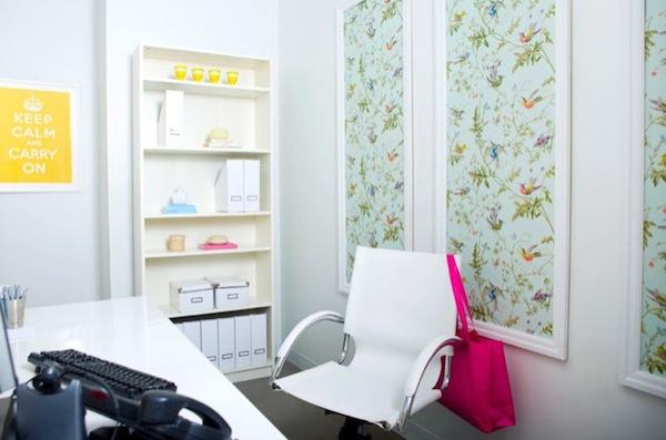 wallpaper framed idea