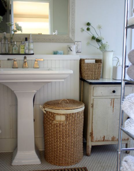 wicker baskets very versatile and great for storage - Bathroom Baskets