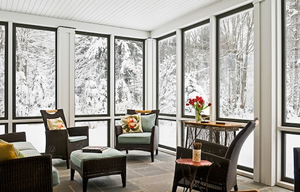 winter patio covered idea
