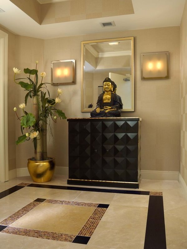 decorate with buddha statues and representations. Black Bedroom Furniture Sets. Home Design Ideas