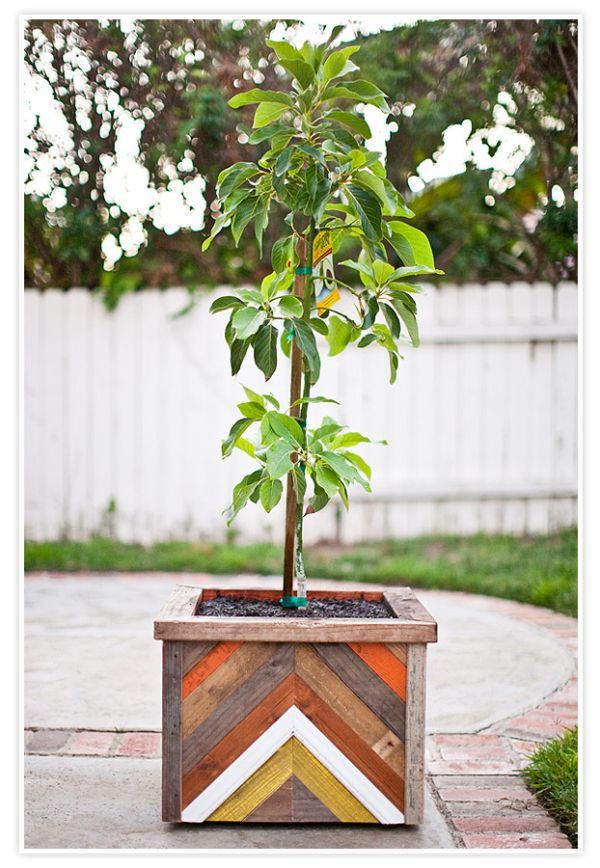 reclaimed wood furniture ideas. chevron pattern recycled wood planter box reclaimed furniture ideas l