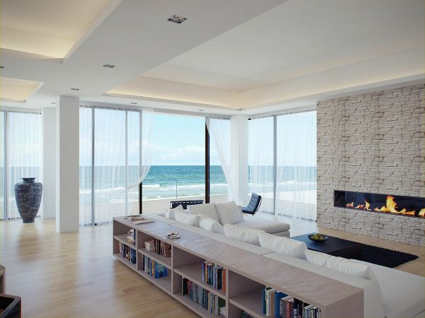 This Is The Living Room Of A Modern Beach House It Has Bright Calm And Serene Dcor Views Only Make Whole Look Even More Amazing