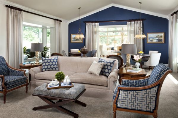 Blue Living Rooms Interesting Cool Blue Living Room Ideas Decorating Inspiration